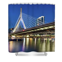 Zakim Bridge And Charles River Shower Curtain