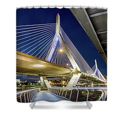 Zakim Bridge From Bridge Under Another Bridge Shower Curtain