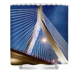 Zakim Bridge Upclose Shower Curtain