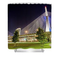 Zakim Bridge Shower Curtain