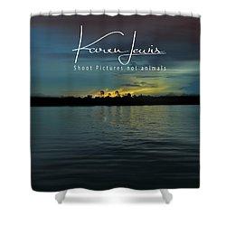 Shower Curtain featuring the photograph Zambezi Sunset by Karen Lewis