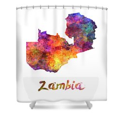 Zambia In Watercolor Shower Curtain