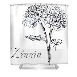 Zannie Zinnia Shower Curtain