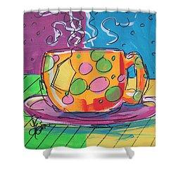 Zany Teacup Shower Curtain