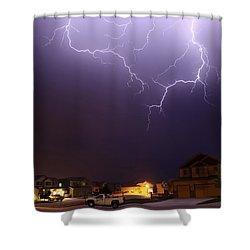 ZAP Shower Curtain by Shane Bechler