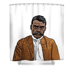 Zapata Shower Curtain by Antonio Romero