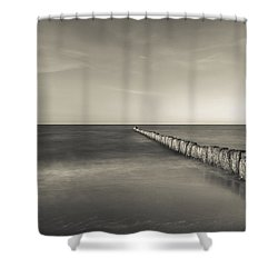 In The Mood Of Zen - Creamy Break In Shower Curtain