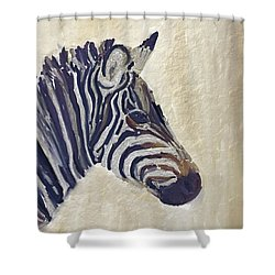Zebra 2 Shower Curtain