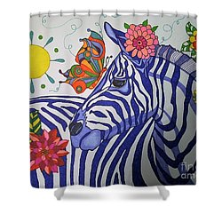 Zebra And Things Shower Curtain