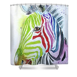 My Polychromatic Friend Shower Curtain