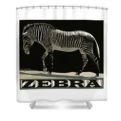 Zebra Design By John Foster Dyess Shower Curtain