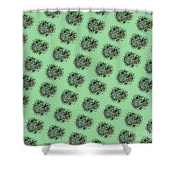 Shower Curtain featuring the drawing Zebra Illustration Pattern by Saribelle Rodriguez