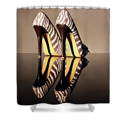 Shower Curtain featuring the photograph Zebra Print Stiletto by Terri Waters