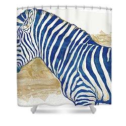 Zebra - Stylised Pop Art Poster Shower Curtain