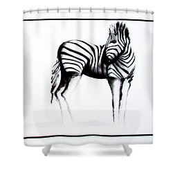 Zebra3 Shower Curtain