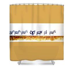 Zebras And Wildebeest 2 Shower Curtain