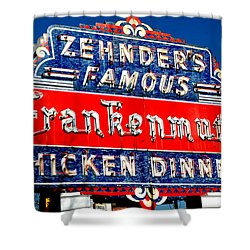 Zehnder's Frankenmuth Michigan Shower Curtain