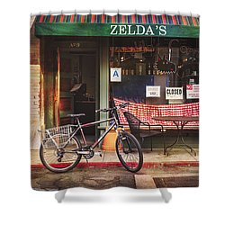 Zelda's Bicycle Shower Curtain