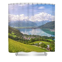 Zell Am See - Alpine Beauty Shower Curtain