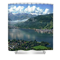 Zell Am See Panorama Shower Curtain