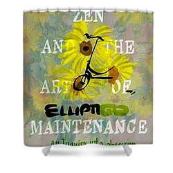 Zen And The Art Of Elliptigo Maintainence, A Parody Shower Curtain