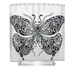 Zen Butterfly Shower Curtain by Tamyra Crossley