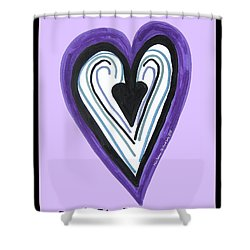 Zen Card Heart Path Shower Curtain