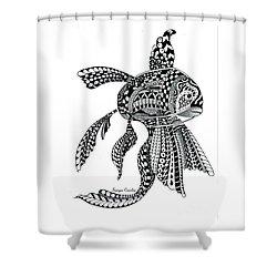 Zen Goldfish Shower Curtain by Tamyra Crossley
