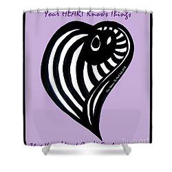 Zen Heart Curvy Life Shower Curtain