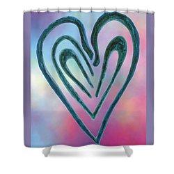 Zen Heart Labyrinth Shower Curtain