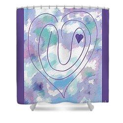 Zen Heart Labyrinth Pastel Shower Curtain