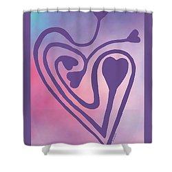 Zen Heart Labyrinth Path Shower Curtain