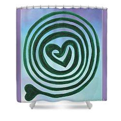 Zen Heart Labyrinth Sky Shower Curtain