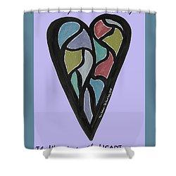 Zen Heart Map Shower Curtain