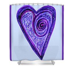 Zen Heart Pink Purple Vortex Shower Curtain