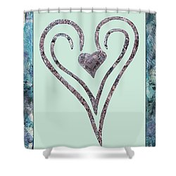 Zen Heart Sedona Labyrinth Shower Curtain