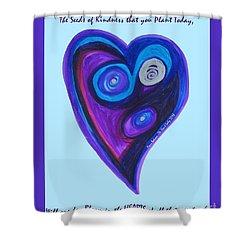 Zen Heart Vortex Shower Curtain