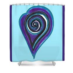 Zen Heart Vortex Wave Shower Curtain
