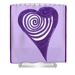 Zen Heart Vortexy  Shower Curtain