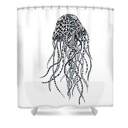 Zen Jellyfish Shower Curtain by Tamyra Crossley