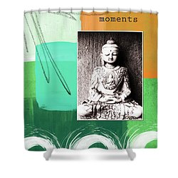 Zen Moments Shower Curtain by Linda Woods