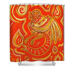 Zen Phoenix Shower Curtain