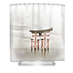 Zen Shower Curtain by Jacky Gerritsen
