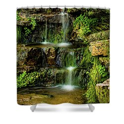 Shower Curtain featuring the photograph Zen Pools - Provo River Falls by TL Mair