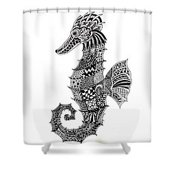 Zen Seahorse Shower Curtain by Tamyra Crossley
