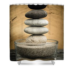 Zen Stones I Shower Curtain