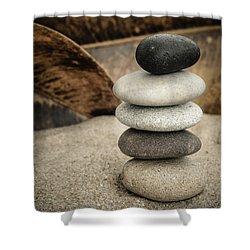 Zen Stones IIi Shower Curtain