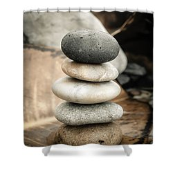 Zen Stones Iv Shower Curtain