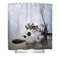Zen Stones Shower Curtain