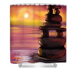 Zen Sunset Shower Curtain